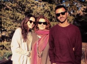 Barbara Bigolin con i figli Giovanna e Riccardo